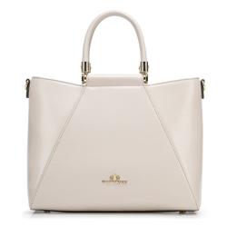 Nőt táska gyíkbőrből arany díszítéssel, krém, 92-4E-614-0, Fénykép 1