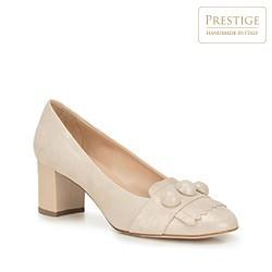 Dámské boty, krémová, 88-D-103-9-38, Obrázek 1