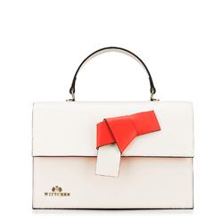 dámská kabelka, krémovo-červená, 88-4E-215-0, Obrázek 1