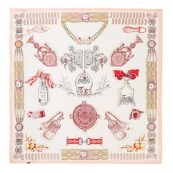 Dámský šátek, krémovo-červená, 87-7D-S21-X4, Obrázek 1