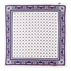 Hedvábný šátek, krémovo-červená, 93-7D-S01-11, Obrázek 1