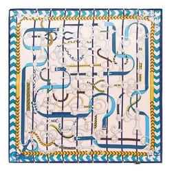 Hedvábný šátek, krémovo-lososová, 93-7D-S01-27, Obrázek 1