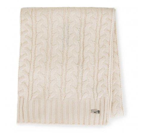 Женский плетеный шарф, кремовый, 91-7F-201-1, Фотография 1