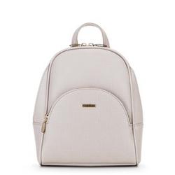 Женский рюкзак с полукруглым карманом, кремовый, 29-4Y-007-9E, Фотография 1