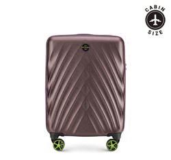 Kabinbőrönd polikarbonátból átlós mintával, lila, 56-3P-801-44, Fénykép 1