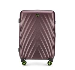 Közepes bőrönd, lila, 56-3P-802-44, Fénykép 1
