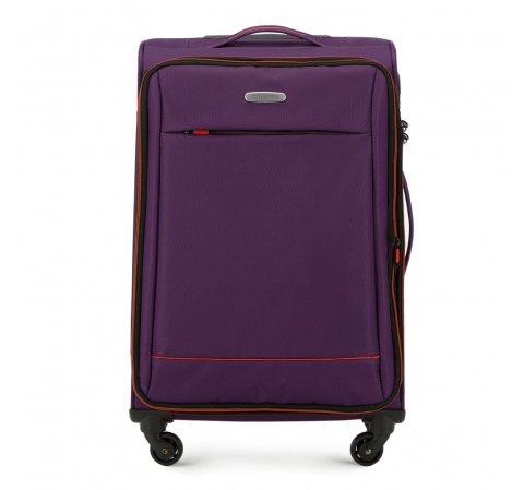 Közepes bőrönd basic, lila - narancs, 56-3S-462-55, Fénykép 1