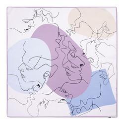 Közepes  méretű selyemsál, lila-rózsaszín, 93-7D-S39-6, Fénykép 1