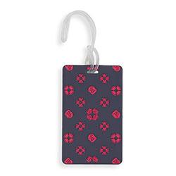 Poggyászcímke, sötétkék-piros, 56-30-016-44, Fénykép 1