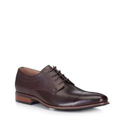 Pánské boty, mahagon, 88-M-504-4-44, Obrázek 1
