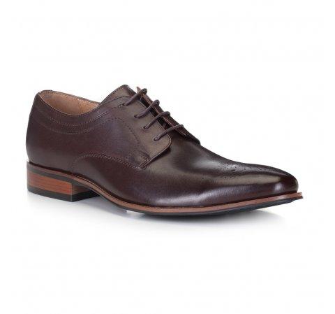 Férfi cipő, mahagóni, 88-M-504-4-44, Fénykép 1