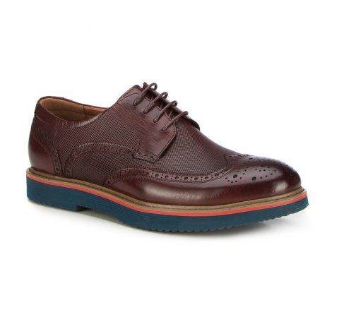 Männer Schuhe, Mahagoni, 87-M-923-2-40, Bild 1