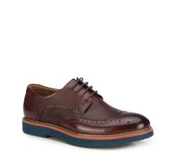 Männer Schuhe, Mahagoni, 87-M-923-2-44, Bild 1