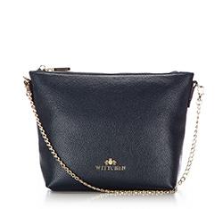 Handtasche, Umhängetasche, marineblau, 86-4E-457-7, Bild 1