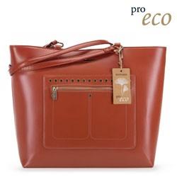 Женская сумка-шоппер из экокожи, медный, 91-4Y-250-5, Фотография 1