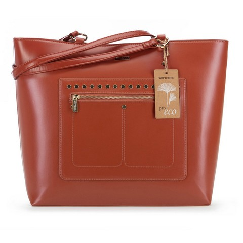 Женская сумка-шоппер из экокожи, медный, 91-4Y-250-7, Фотография 1