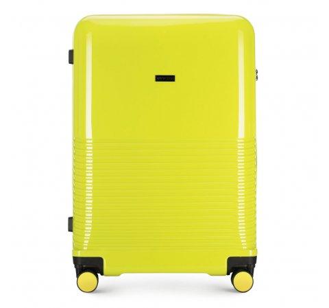 Nagy bőrönd, zöldcitrom zöld, 56-3H-573-90, Fénykép 1
