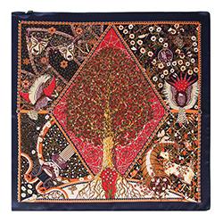 Женский шейный платок, многоцветный, 90-7D-S14-X22, Фотография 1