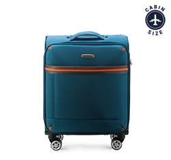 Kabinový cestovní kufr, modrá, 56-3S-491-95, Obrázek 1