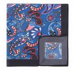 Kapesníček, modro-červená, 92-7P-001-X3, Obrázek 1