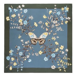 Dámský hedvábný šátek, modro-zelená, 91-7D-S32-X1, Obrázek 1
