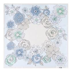 Hedvábný šátek, modro - zelená, 93-7D-S01-22, Obrázek 1