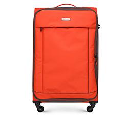Nagy bőrönd basic, narancs-fekete, 56-3S-463-55, Fénykép 1