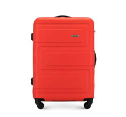 Közepes dombornyomású ABS bőrönd, korallvörös, 56-3A-632-30, Fénykép 1