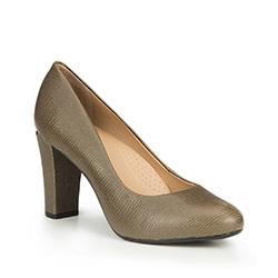 Női cipő, Oliva zöld, 87-D-707-Z-37, Fénykép 1