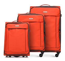 Комплект чемоданов, оранжево - черный, 56-3S-46S-55, Фотография 1