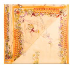 Шарф женский, оранжево-фиолетовый, 85-7D-S40-X10, Фотография 1