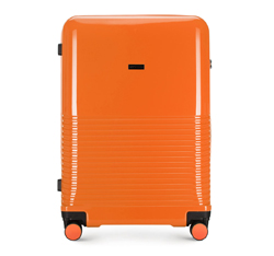 Большой чемодан, оранжевый, 56-3H-573-55, Фотография 1