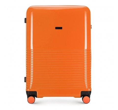 Большой чемодан, оранжевый, 56-3H-573-24, Фотография 1