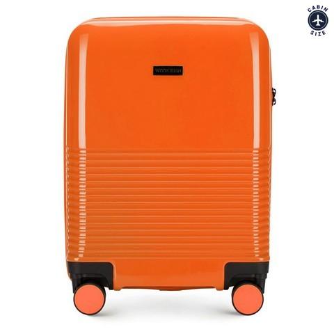 Чемодан ручная кладь из ABS-пластика, оранжевый, 56-3H-571-90, Фотография 1