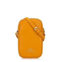 Cумка из стеганой кожи вертикальная, оранжевый, 92-2E-314-6, Фотография 1