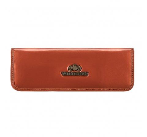 Футляр для ручек из лакированной кожи, оранжевый, 25-2-001-9, Фотография 1