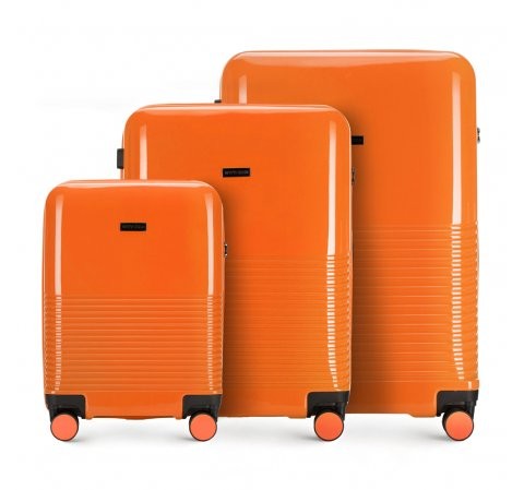 Комплект чемоданов, оранжевый, 56-3H-57S-24, Фотография 1