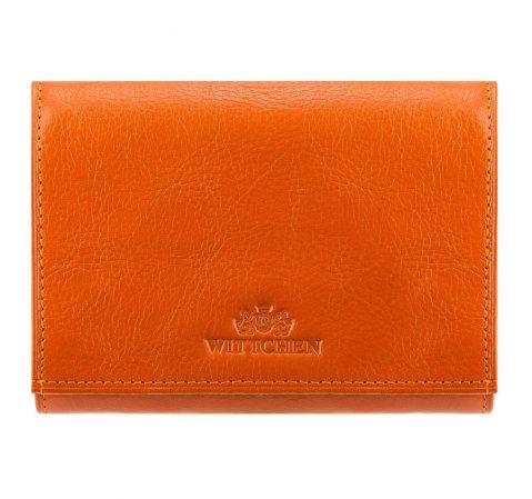 Женский кожаный кошелек горизонтальный, оранжевый, 21-1-071-1, Фотография 1
