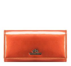 Большой женский кошелек из лакированной кожи, оранжевый, 25-1-052-6, Фотография 1
