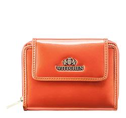 Женский кошелек из лакированной кожи, оранжевый, 25-1-211-6, Фотография 1