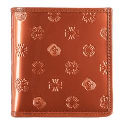 Маленький женский лакированный кошелек, оранжевый, 34-1-065-6S, Фотография 1