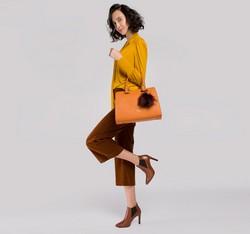 Dámská kabelka, oranžová, 85-4E-445-6, Obrázek 1