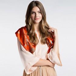 Dámský šátek, oranžová, 86-7D-S22-X05, Obrázek 1