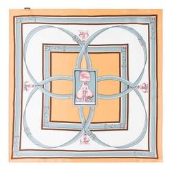 Hedvábný šátek, oranžově-hnědá, 93-7D-S01-3, Obrázek 1