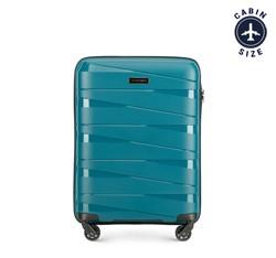 Kabin bőrönd, pávakék, 56-3T-791-85, Fénykép 1