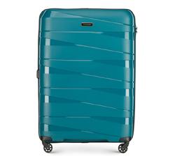 Nagy bőrönd, pávakék, 56-3T-793-85, Fénykép 1