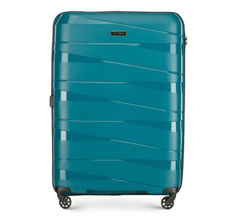 Nagy bőrönd, pávakék, 56-3T-793-35, Fénykép 1