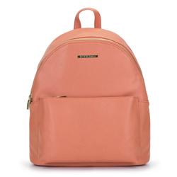Женский городской рюкзак с яркой подкладкой, персиковый, 92-4Y-215-6, Фотография 1