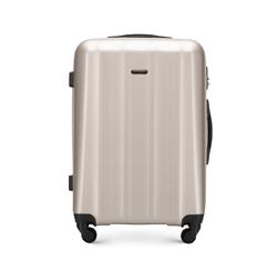 Polikarbonát közepes méretű bőrönd, pezsgő, 56-3P-112-86, Fénykép 1