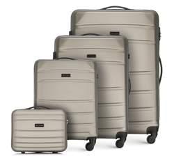 ABS bőröndkészlet, pezsgő, 56-3A-65K-86, Fénykép 1